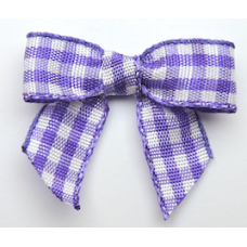 Woven Purple Gingham Bow