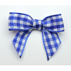 Woven Royal Blue Gingham Bow