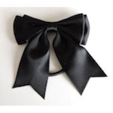 Satin Ribbon Hair Bow Colour Black