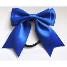 Satin Ribbon Hair Bow Colour Electric Blue