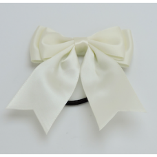 Satin Ribbon Hair Bow Colour Ivory