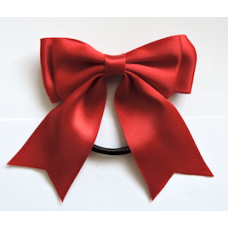 Satin Ribbon Hair Bow Colour Scarlet