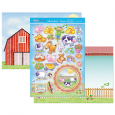 "Hunkydory ""Little Dudes"" Card Kit, 'Fun on the Farm'."
