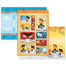 "Hunkydory ""Little Dudes"" Card Kit, 'Ultimate Rockstar'."