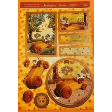 """Hunkydory Thoughts of Autumn """"Woodland Wheels"""" Card Kit."""