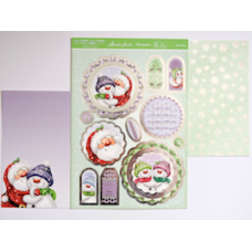 "Hunkydory ""Santa Hugs' Topper Kit."