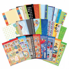 "Hunkydory ""Little Dudes"" Card Kit, with Matching Inserts."