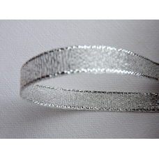 10mm Silver Metallic Ribbon