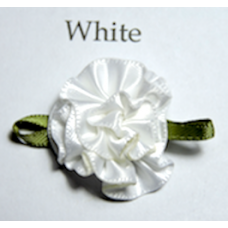 Satin Ribbon Rosette Flowers Colour: White.