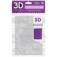 "Crafter's Companion 5"" x 7"" 3D Embossing Folder - Flourishing Frame"