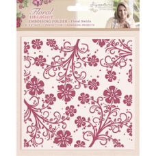 "Sara Davies ""Floral Swirls"" Embossing Folder."