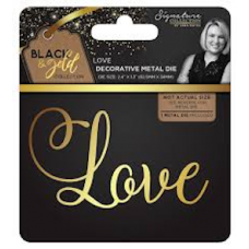 Sara Signature Collection Black and Gold Metal Dies x 2.