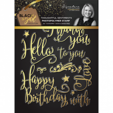 Sara Signature Collection Black and Gold A6  Stamps - Thoughtful Sentiments.