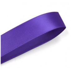 16mm Double Faced Satin Ribbon Colour: Cadbury Purple