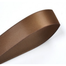 38mm Double Faced Satin Ribbon Colour: Dark Brown