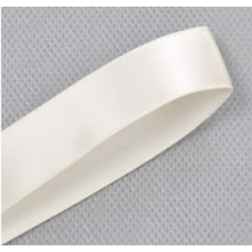 16mm Double Faced Satin Ribbon Colour: Ivory